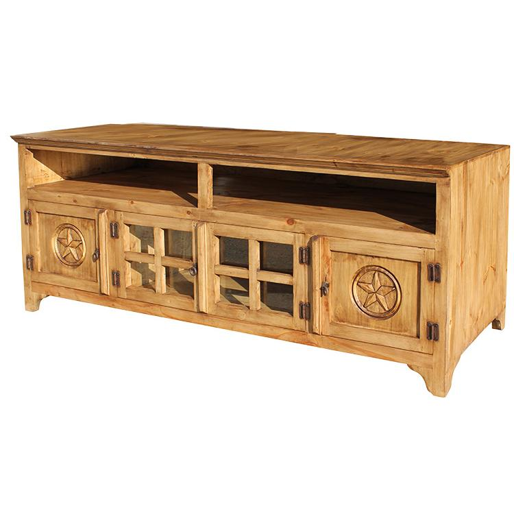 Rustic pine collection gregorio star tv stand com560 Rustic tv stands