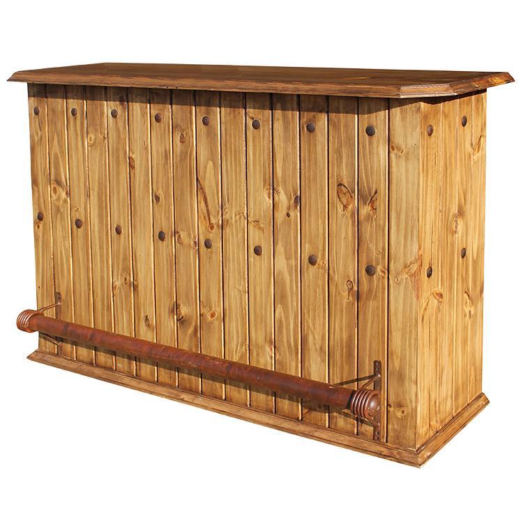 Rustic pine collection basement bar bar03 for Rustic log bar