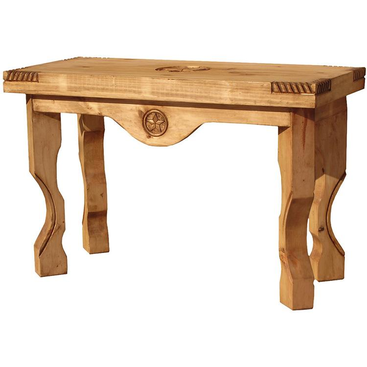 Rustic Pine Collection Yugo Three Star Console Table CON55