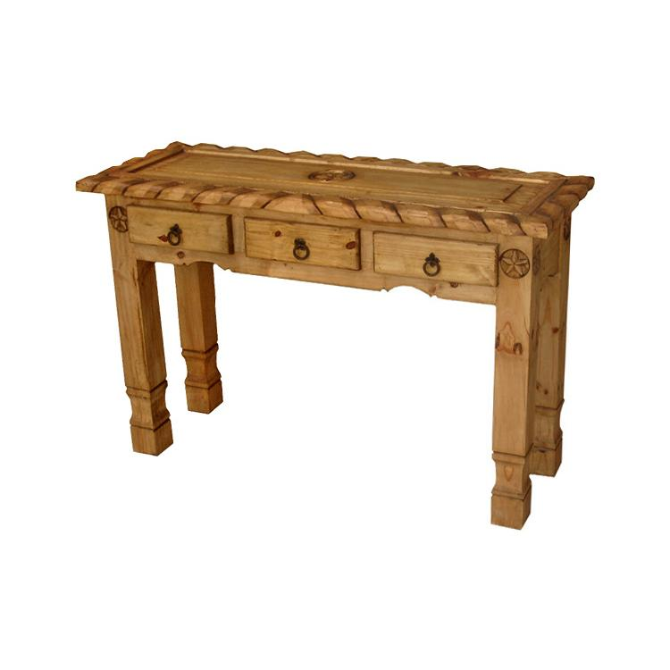 Rustic Pine Collection Texana 9 Star Console Table CON554