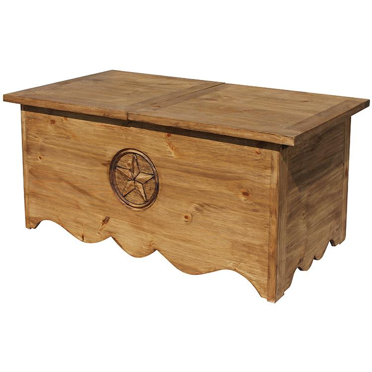 Rustic Pine Collection Lone Star Sliding Topcoffee Table Cen515