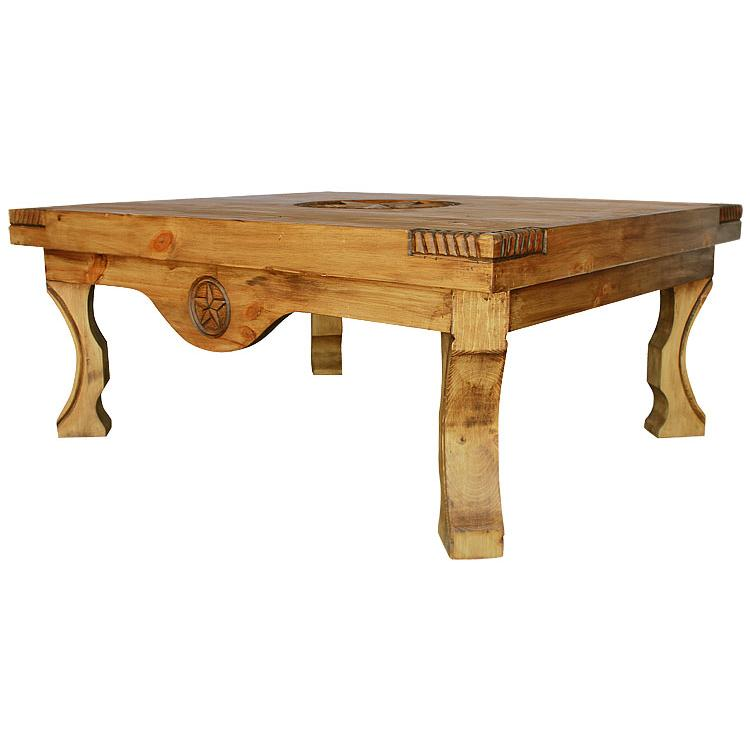 Rustic Pine Collection Yugo Three Star Coffee Table Cen55