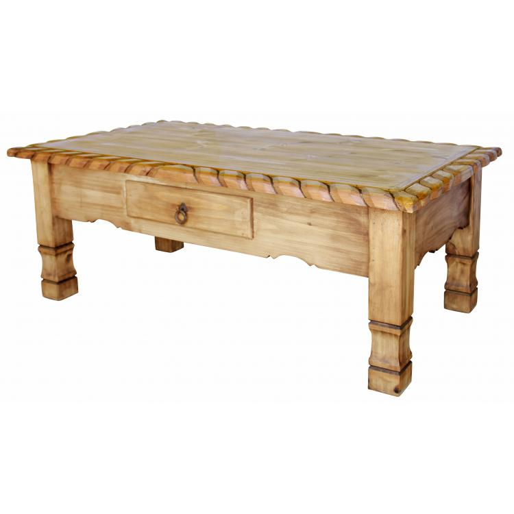 Rustic pine collection texana coffee table cen03 for Pine coffee table