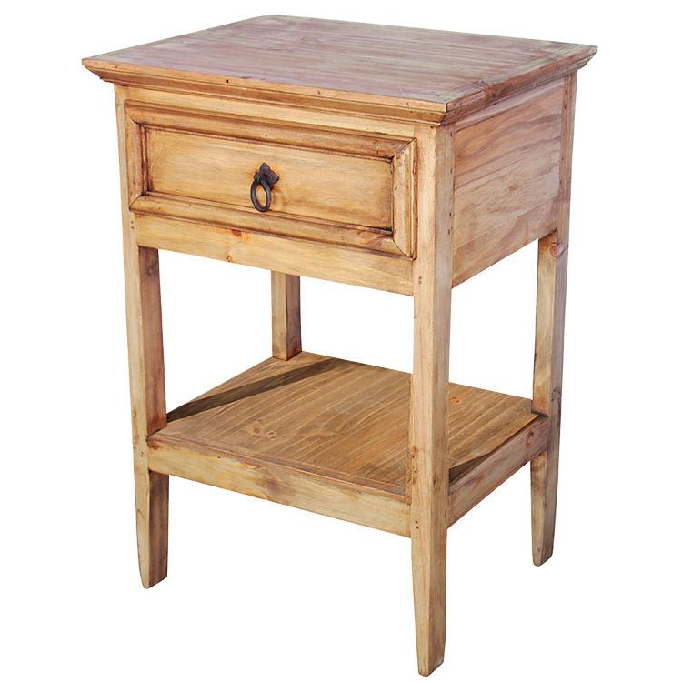 Rustic Pine Collection Yonny Nightstand W Shelf Bur59