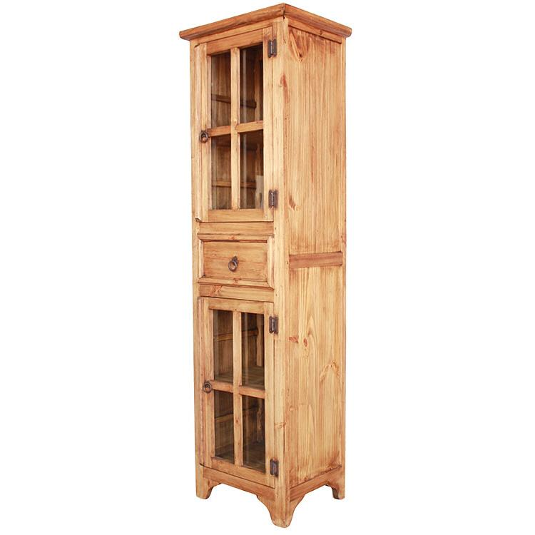 Rustic Pine Kitchen Cabinets: Pantry Storage Cabinet