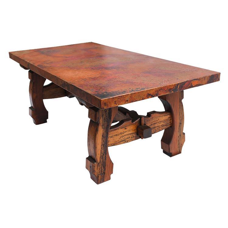 Antique Pine Copper Collection Yugos Coffee Tablew Copper Top Rsc Cof004