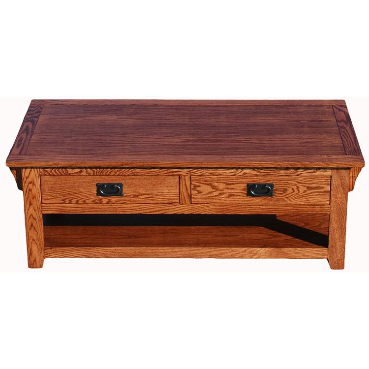 Living Room American Mission Oakcoffee Table W Drawers 259 M