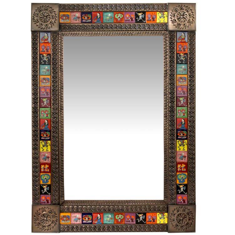 Talavera Tile Mirrors Collection - Talavera Tile Mirrorw/ Day of the ...