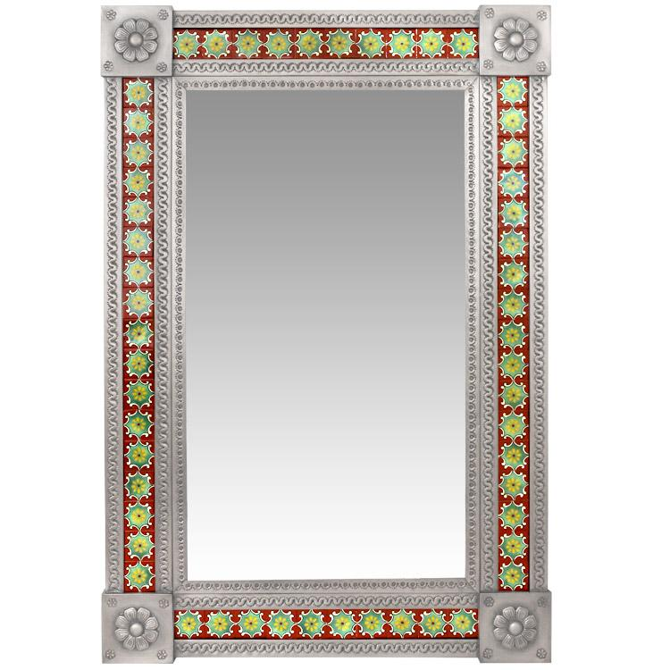 Talavera Tile Mirrors Collection - Talavera Tile Mirror - TMIR114