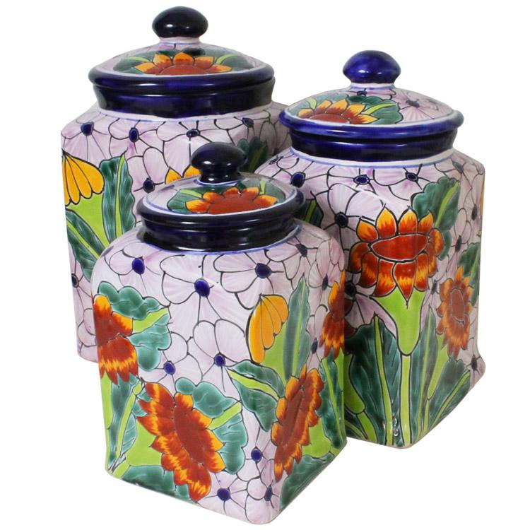 talavera kitchen canisters collection talavera kitchen small pottery kitchen canister tea canister cookie jar