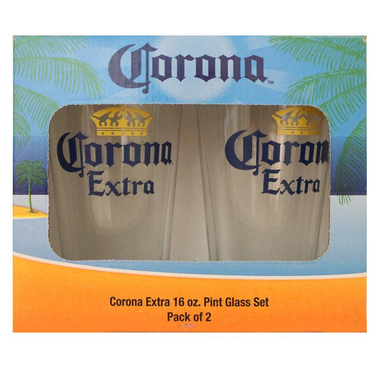 Corona Extra Pint Glass - Set of Two
