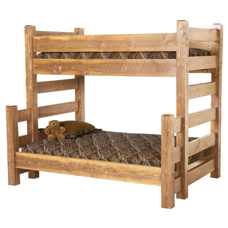 Beds And Headboards Barnwood Bunk Bed Bw14
