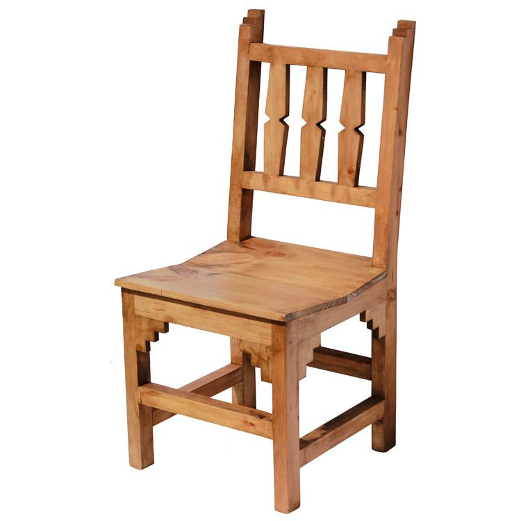 Rustic pine collection new mexico chair sil18 for Mexican furniture