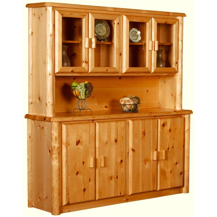 Pine Log Collection Buffet & Hutch LOG081