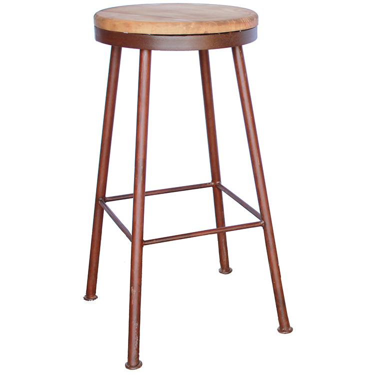 Rustic Pine Collection Tall Swivel Bar Stool Ban821