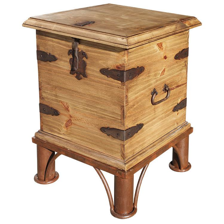 Rustic Pine Collection End Table Trunk W Base Lat69