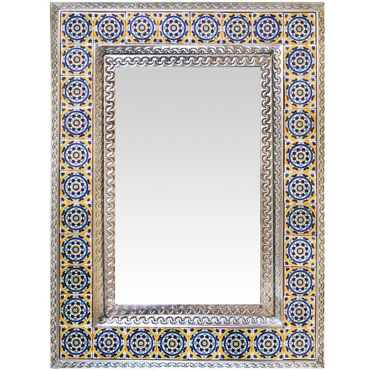 Mexican Tile Mirror Frame Tile Design Ideas