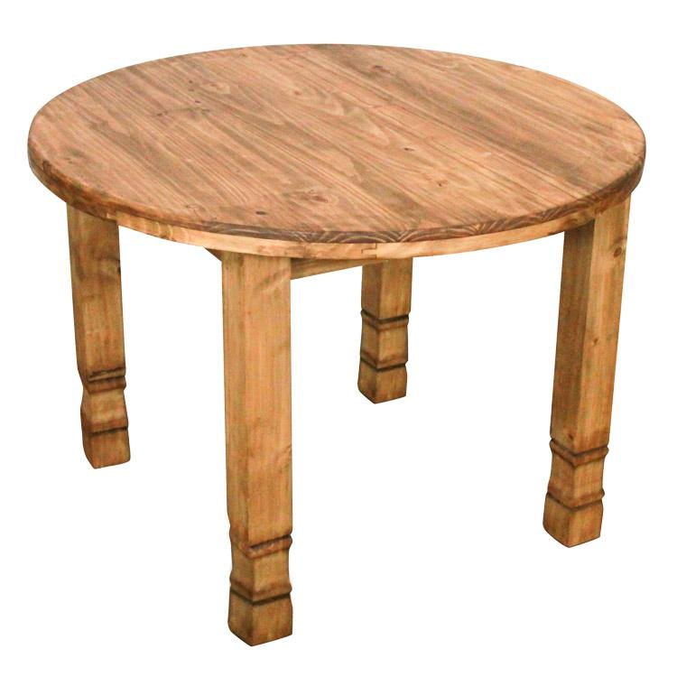 Rustic Pine Collection Round JulioHigh Top Table MES131