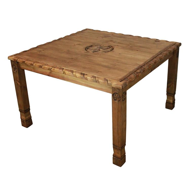 Rustic Pine Collection Texana Nine Star Dining Table MES54R31