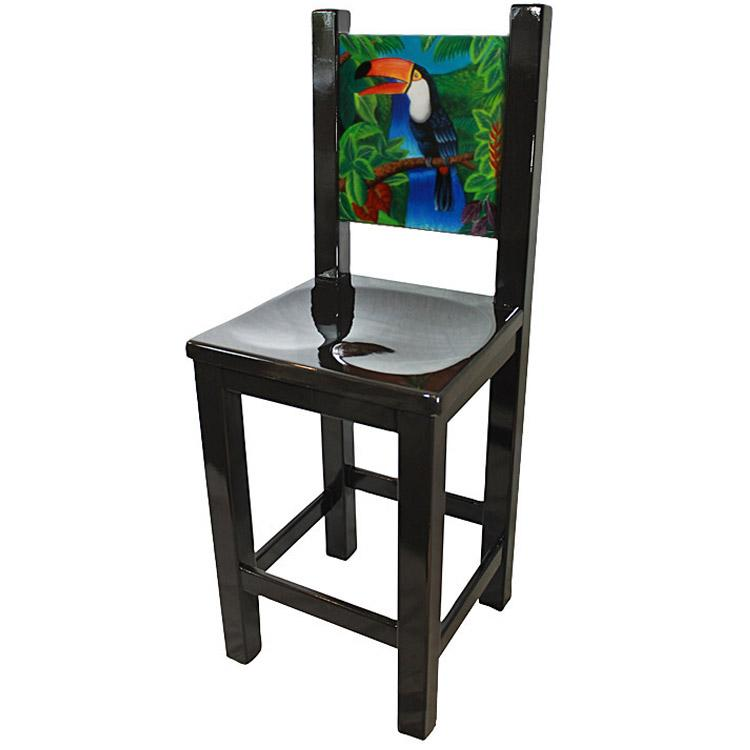 La Candona Collection Painted Toucan Bar Stool Lcc120 Bs