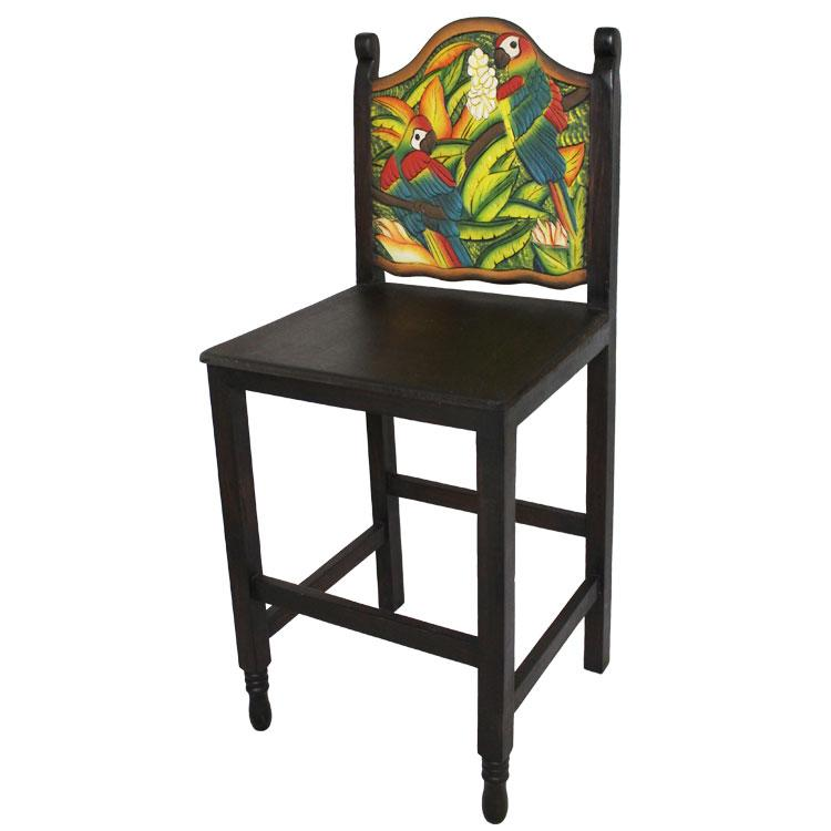 Carved Collection Macaw Bar Stool Cc190 Bs