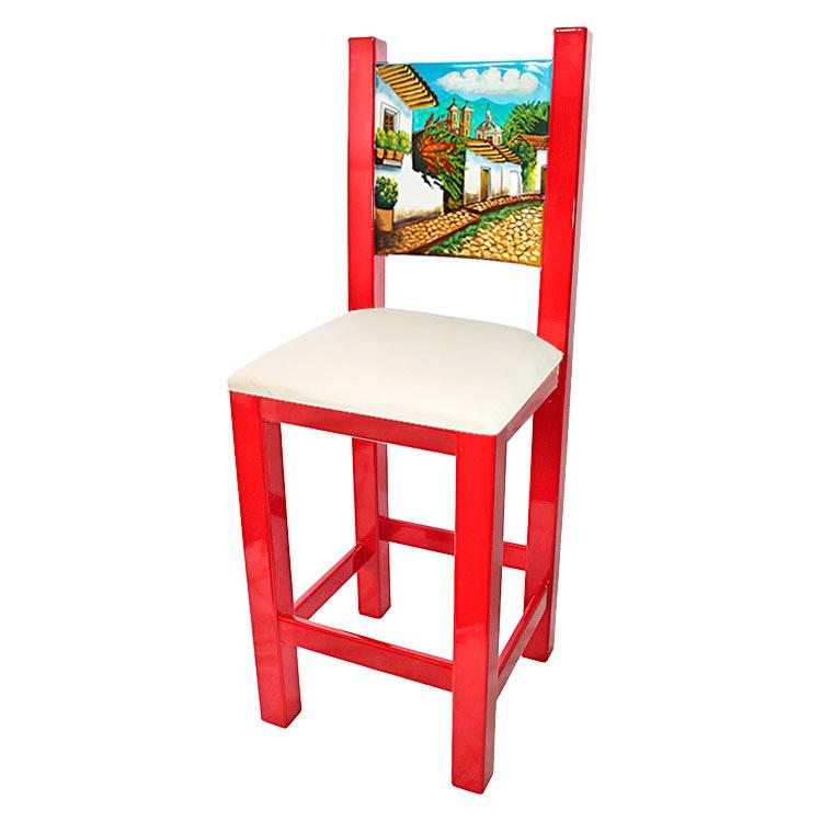 La Candona Collection Painted Pueblo Bar Stool Lcc105 Bs