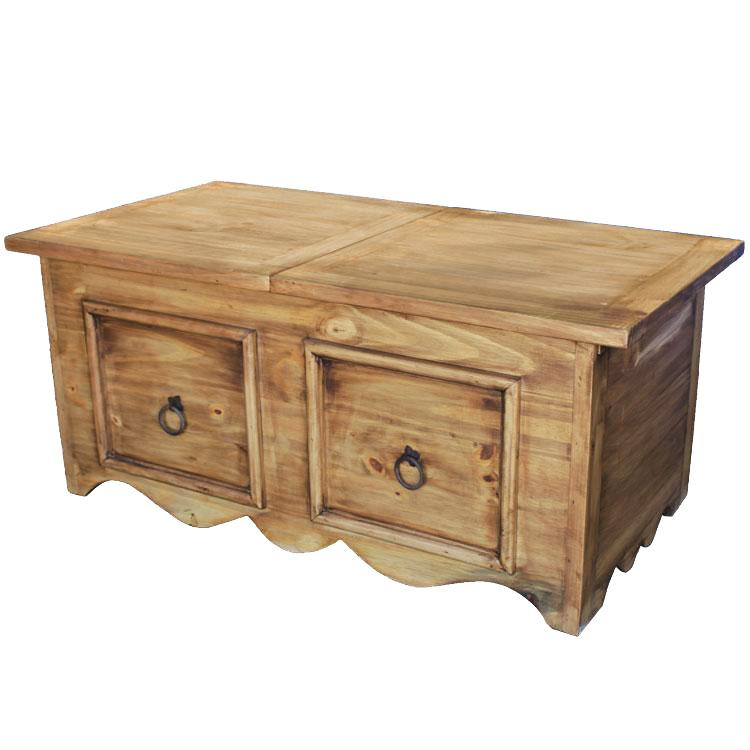 Rustic Pine Collection Milan Sliding Topcoffee Table Cen15