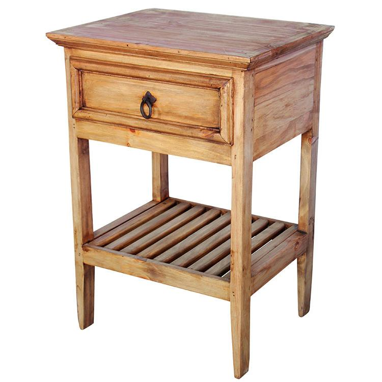 Rustic pine collection ranchero nightstand bur58 for Mexican pine bedroom furniture