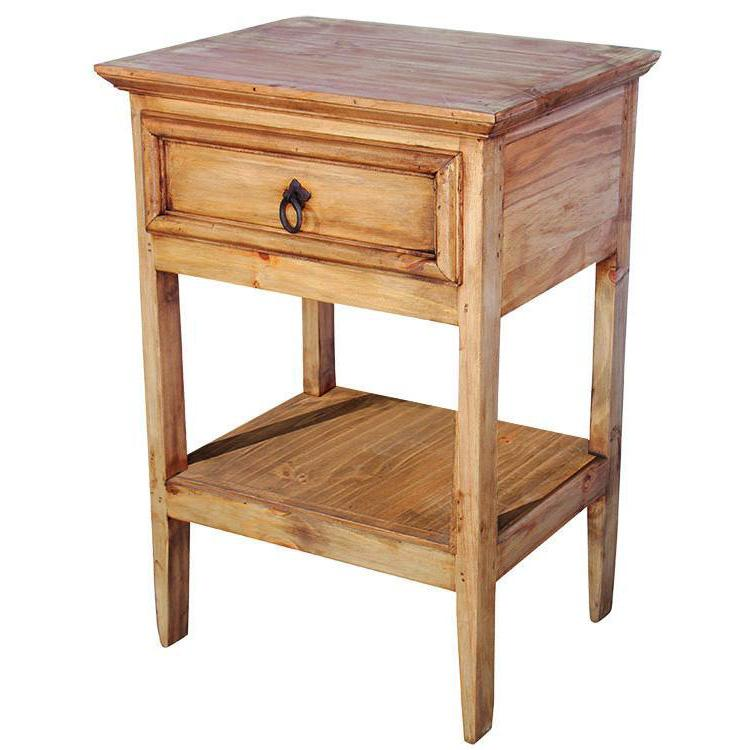 La Fuente Imports Yonny Mexican Rustic Pine Nightstand w/...