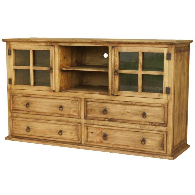 Rustic pine collection comoda casagrande tv stand com050 Rustic tv stands