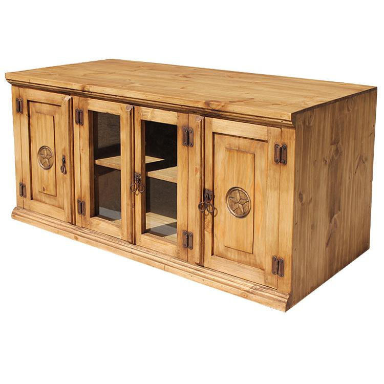 Rustic Pine Collection Santa Maria Star Tv Stand Com350