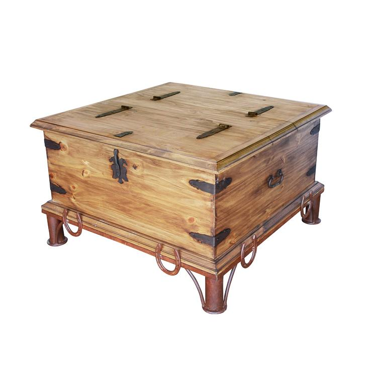 Rustic Pine Collection Horseshoe Coffee Table Cen66