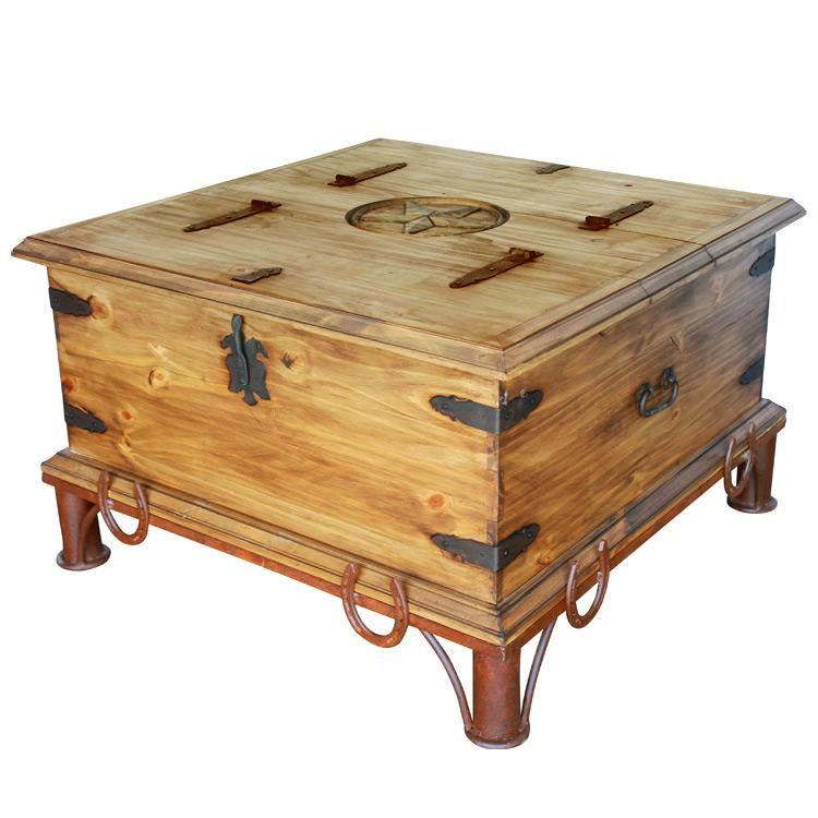Trunk Coffee Table Pine: Star Trunk Coffee Tablew