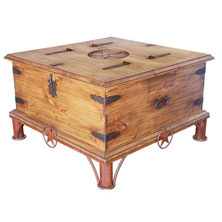 Trunk Coffee Table Pine: Star Trunk Coffee Tablew/ Lone