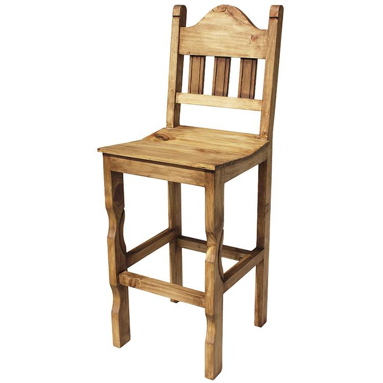 Rustic Pine Collection Tall Pueblo Bar Stool Ban99