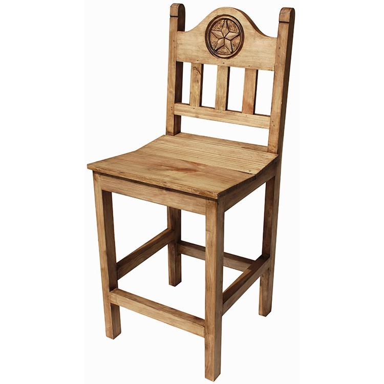 Rustic Pine Collection Short Lone Star Bar Stool Ban524
