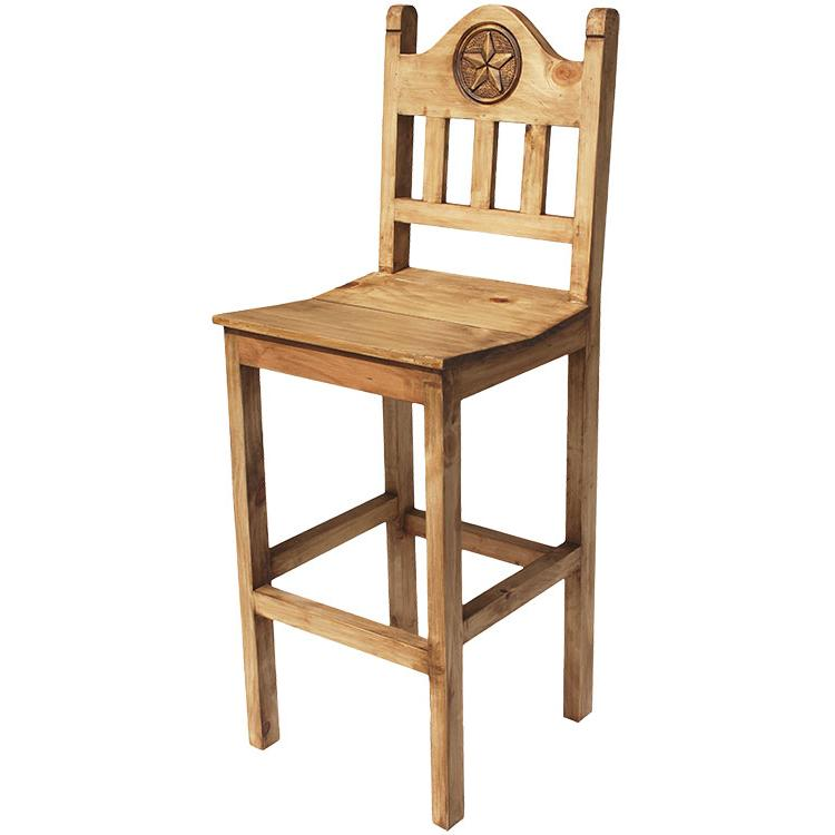 Rustic Pine Collection Lone Star Bar Stool Ban532
