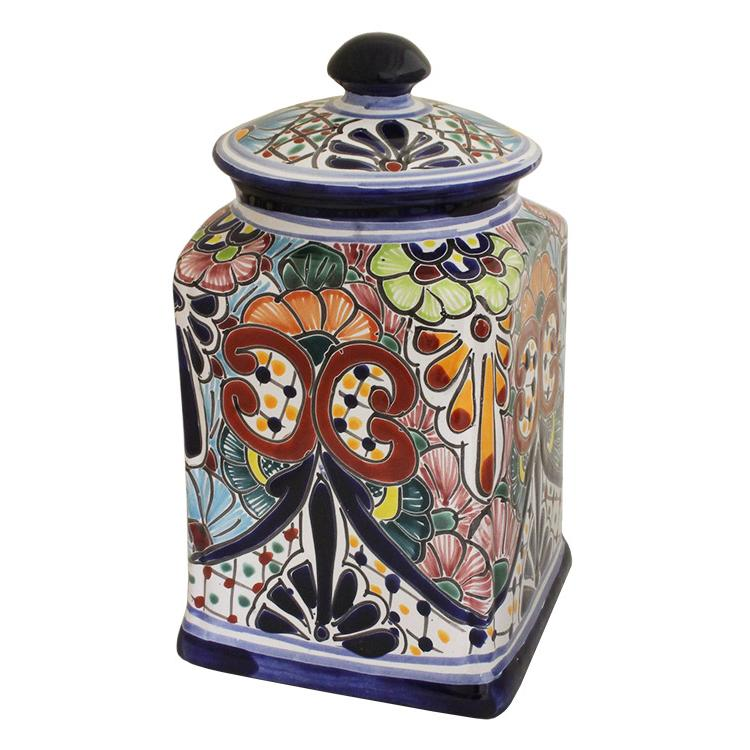 talavera kitchen canisters collection talavera kitchen pottery canister set ships in 1 week kitchen set of 3 jars