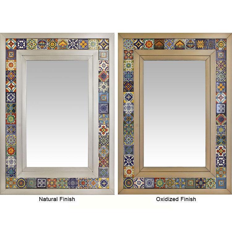 Talavera Tile Mirror W Multi Colored Tiles