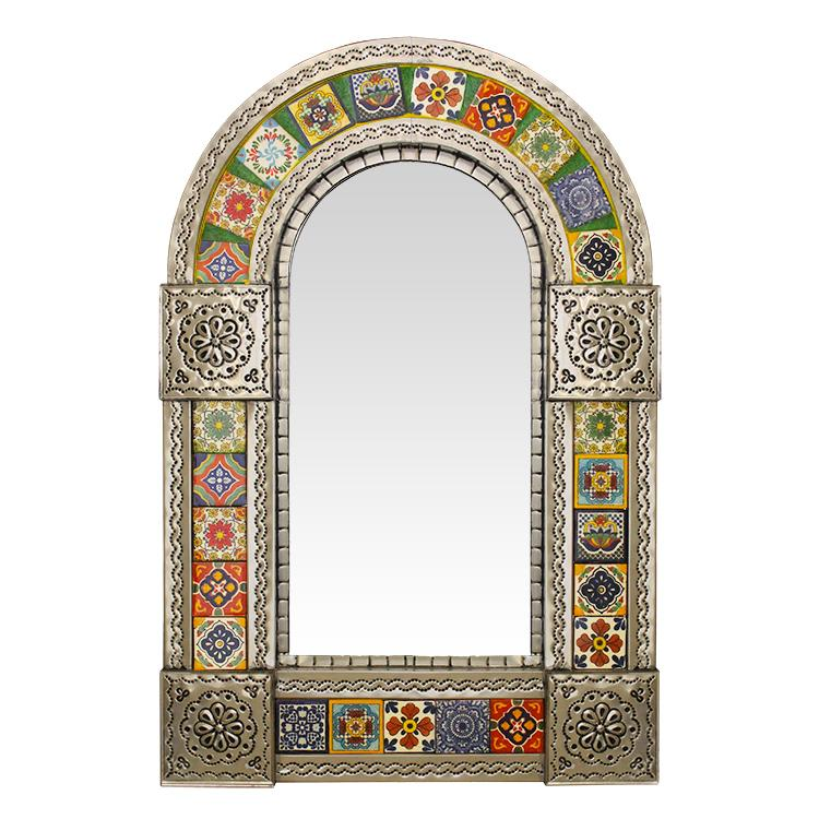 Talavera Tile Mirrors Collection Arched Tile Mirrorw