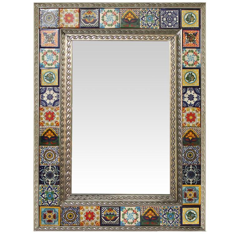 Talavera Tile Mirrors Collection - Talavera Tile Mirrorw/ Multi ...