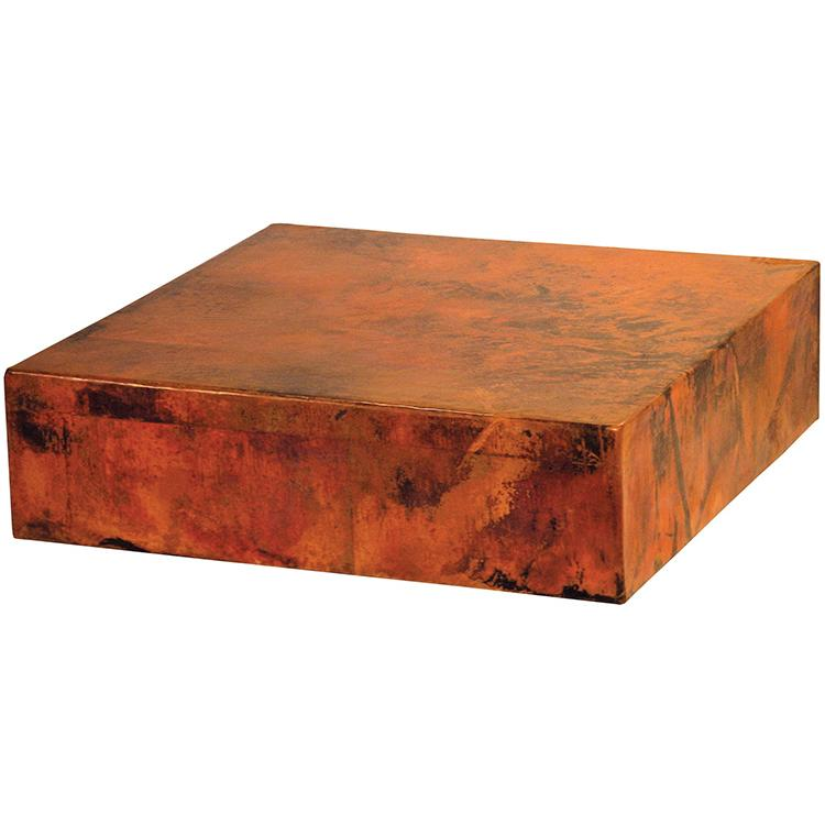 Copper Collection Copper Cube Coffee Table Cof 98cu