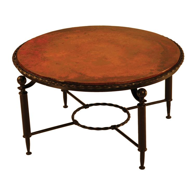 Antique Round Copper Coffee Table: Round Durango Coffee Table