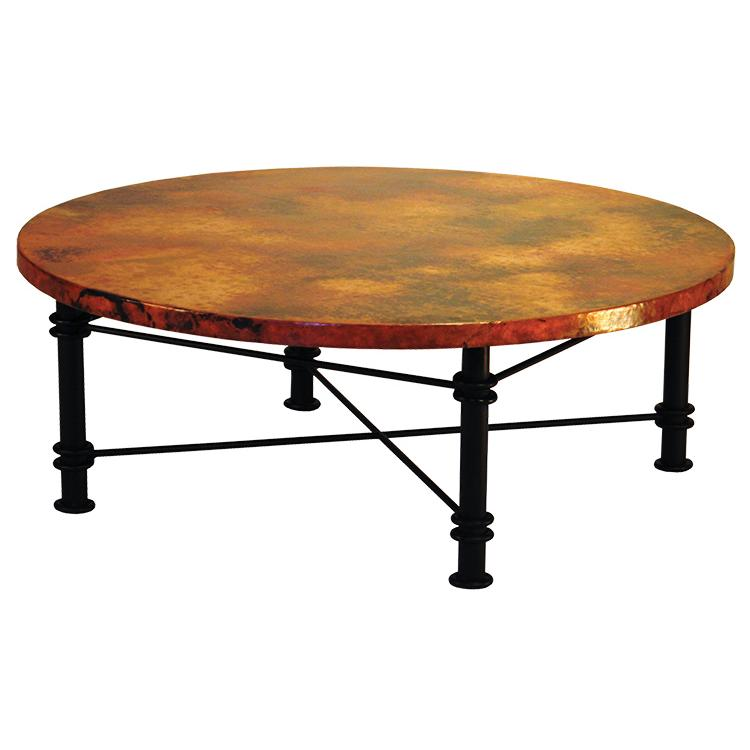 Copper collection round jessica coffee table cof 108r for Coffee table 48 x 36