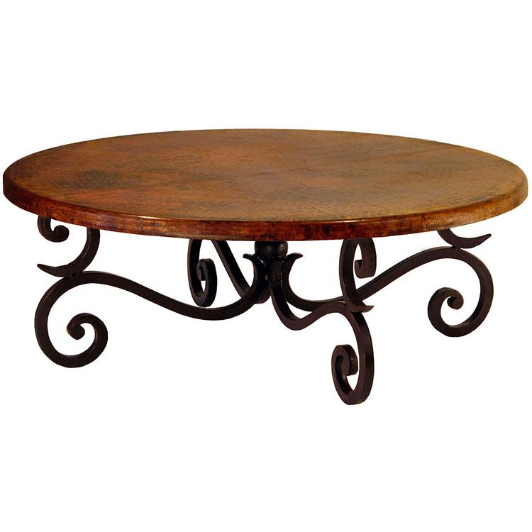 Copper Collection Round Fountain Coffee Table Cof 88r