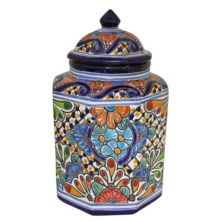 talavera kitchen canisters collection talavera kitchen canister set ceramic kitchen canisters pottery by romyandclare
