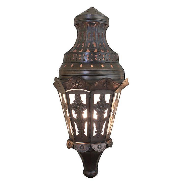 Mexican Metal Wall Sconces : Mexican Tin Lighting Collection - Tres Hojas Wall Sconce - LAMW81