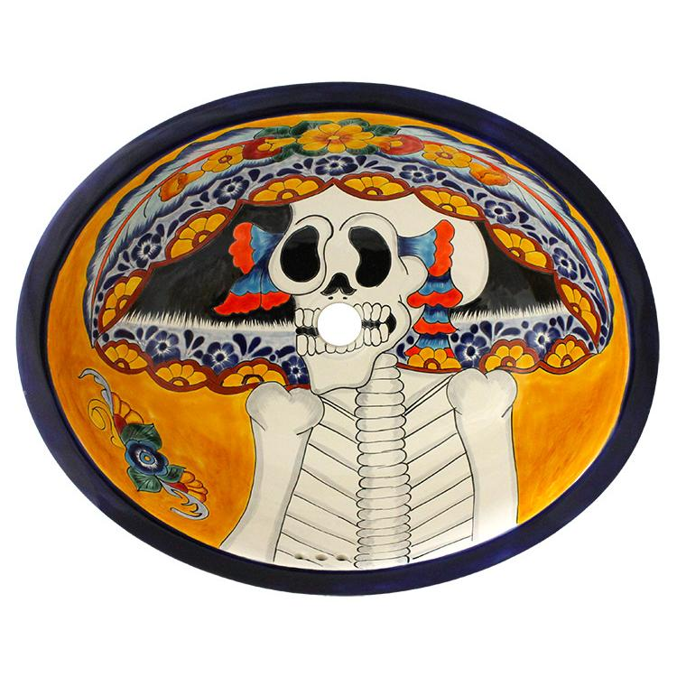 Day Of The Dead Bathroom Set: Day Of The DeadTalavera Sink