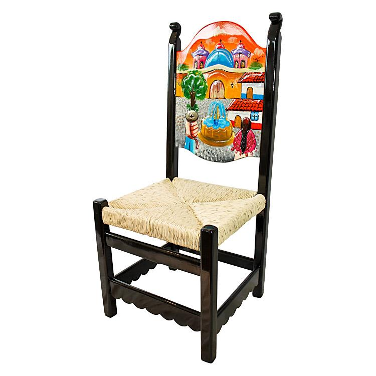 La Candona Collection Carved Pueblo Chair Lcc025