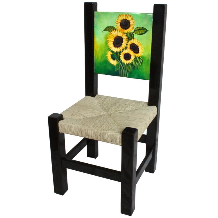 Superbe Painted Sunflower Chair